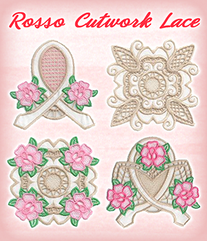 Rosso Cutwork Lace