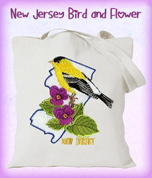 New Jersey Bird and Flower