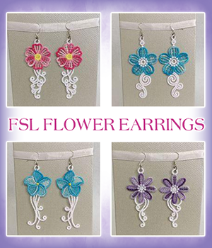 FSL Flower Earrings