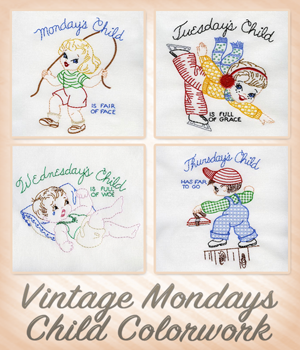 Vintage Mondays Child Colorwork