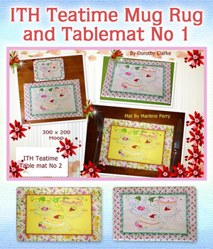 ITH Teatime Mug Rug and Tablemat No 1