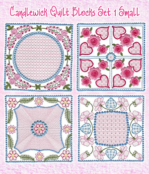 Candlewick Quilt Blocks Set 1 Small