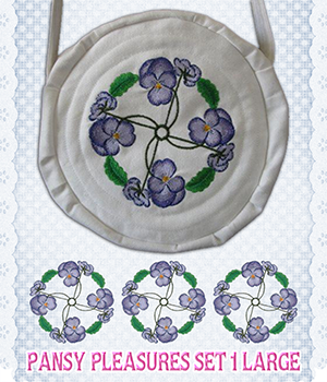 Pansy Pleasures Set 1 Large