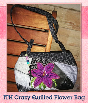 ITH Crazy Quilted Flower Bag