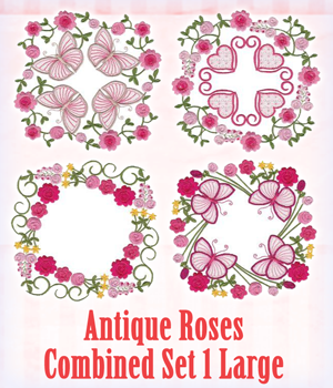 Antique Roses Combined Set 1 Large