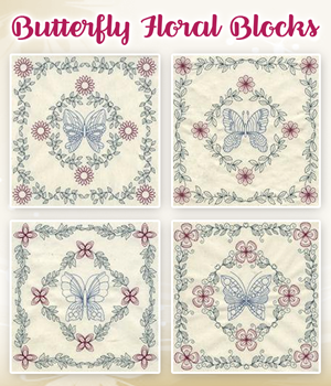 Butterfly Floral Blocks
