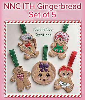 NNC ITH Gingerbread Set of 5