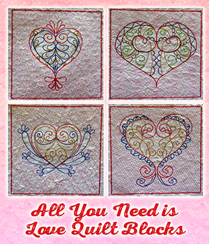 All You Need is Love Quilt Blocks