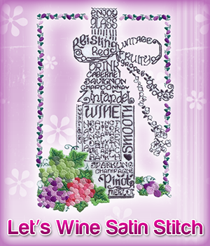 Lets Wine Satin Stitch