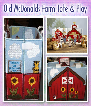 Old McDonalds Farm Tote & Play