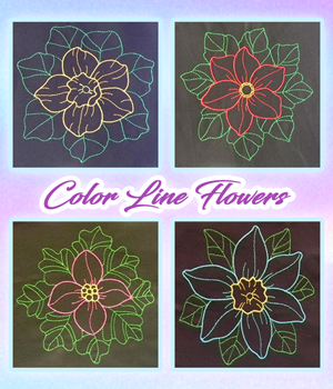 Color line Flowers
