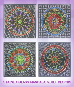 Stained Glass Mandala Quilt Blocks