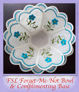 FSL Forget-Me-Not Bowl & Complimenting Base