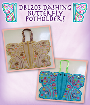 DBL203_Dashing Butterfly Potholders.