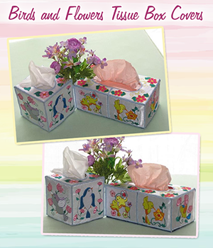 Birds and Flowers Tissue Box Covers