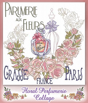 Floral Perfumerie Collage