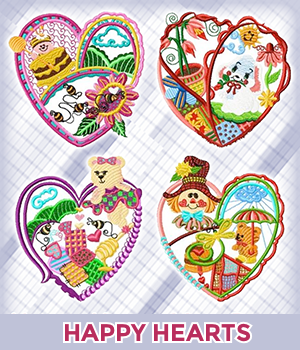 Happy Heart Mug Rugs