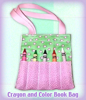 Crayon and Color Book Bag