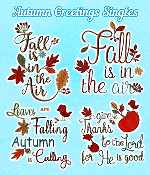 Autumn Greetings Singles