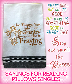 Sayings For Reading Pillows Singles