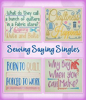 Sewing Saying Singles