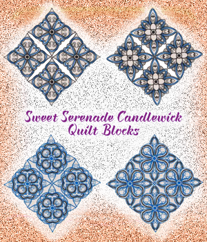 Sweet Serenade Candlewick Quilt Blocks