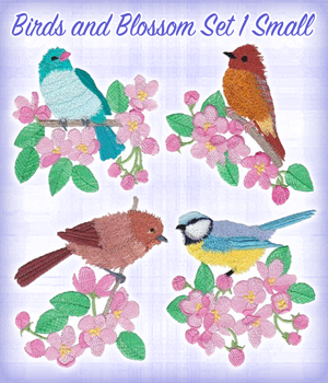 Birds and Blossom Set 1 Small
