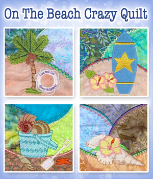 On The Beach Crazy Quilt