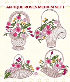 Antique Roses Medium Set 1