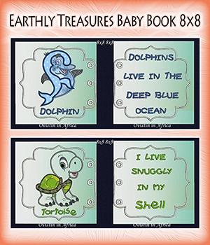 Earthly Treasures Baby Book 8x8
