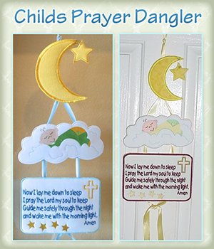 Childs Prayer Dangler