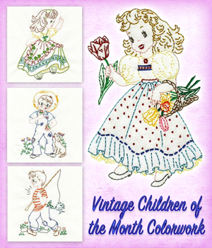 Vintage Children of the Month Colorwork