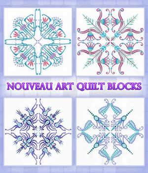 Nouveau Art Quilt Blocks