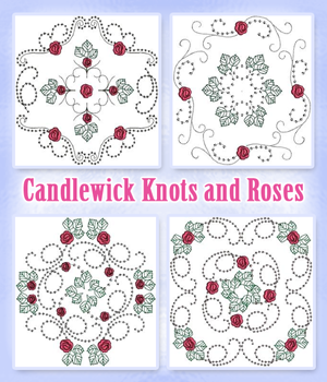Candlewick Knots and Roses