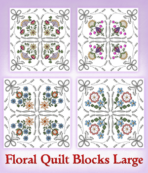 Floral Quilt Blocks Large
