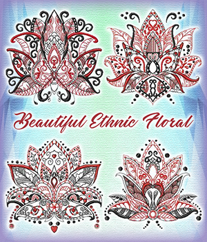 Beautiful Ethnic Floral