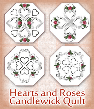 Hearts and Roses Candlewick Quilt