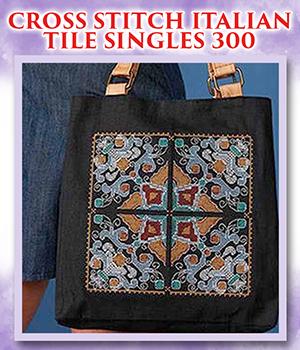 Cross Stitch Italian Tile Singles