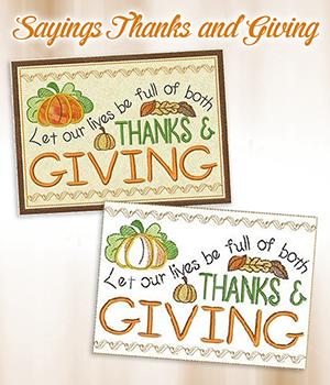 Sayings Thanks and Giving