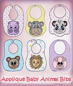 Applique Baby Animal Bibs