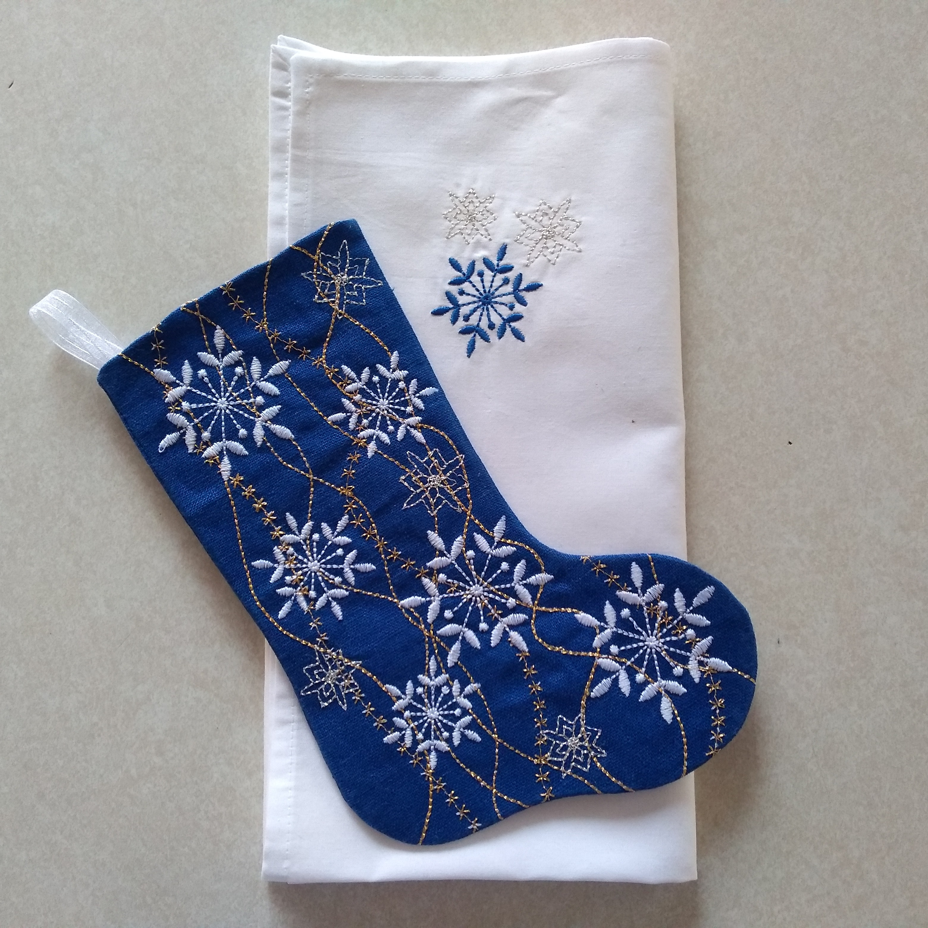 Snowflake Gift Stocking Complete Project Kit, CD & Instructions-5