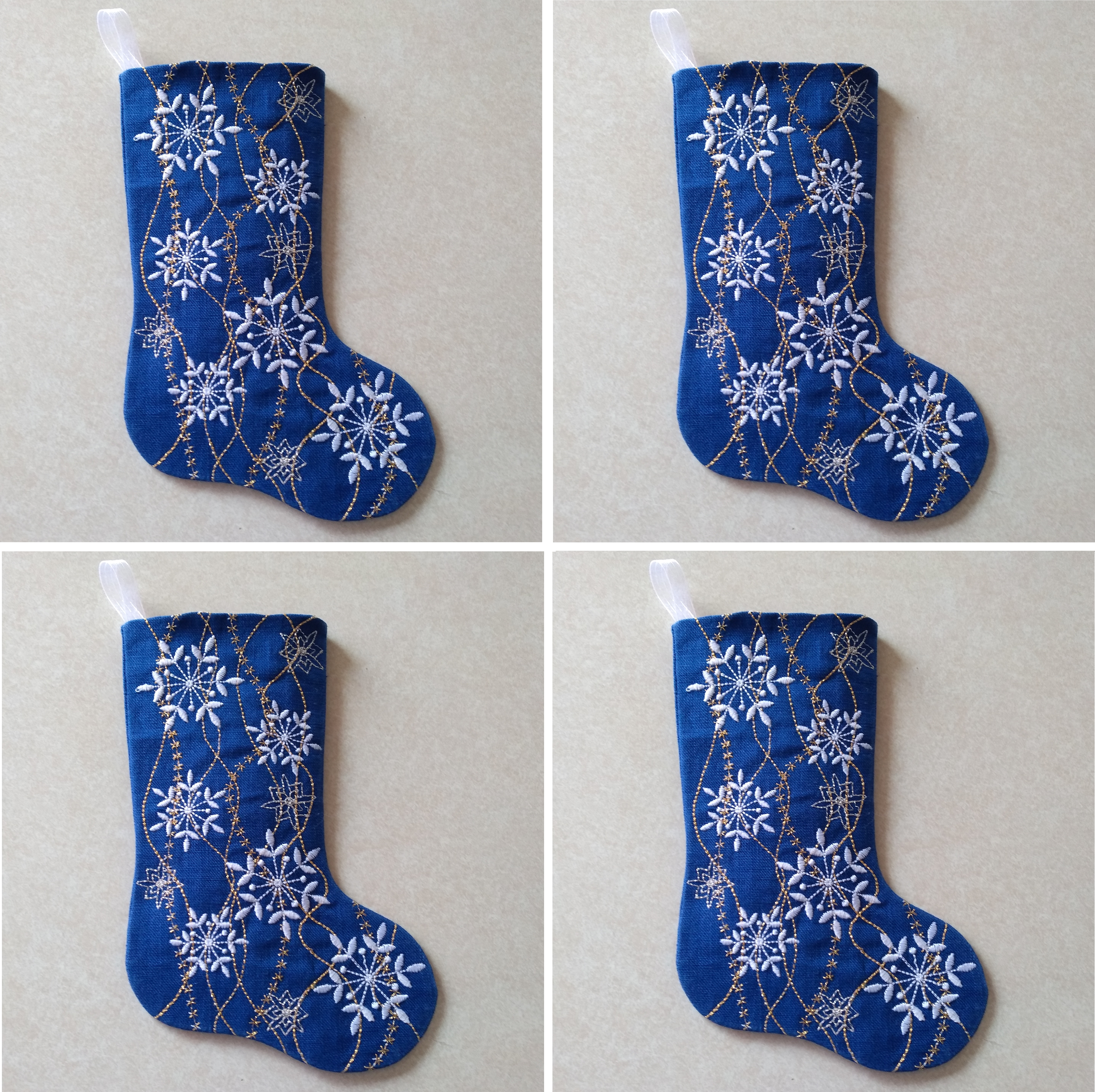 Snowflake Gift Stocking Complete Project Kit, CD & Instructions-7