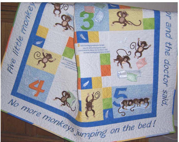 MONKEY SHINES QUILT ON CD