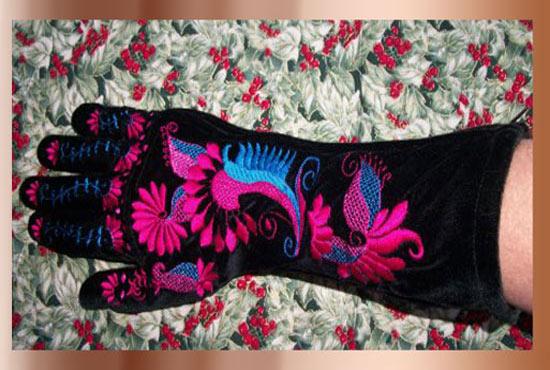Velvet Party Gloves Project -3