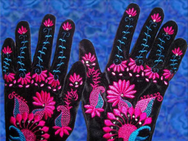 Velvet Party Gloves Project -4