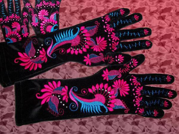 Velvet Party Gloves Project -5