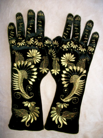 Velvet Party Gloves Project -6