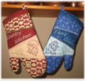 One Hooping Oven Mitts