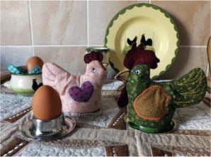 Hen & Rooster Egg Cozies
