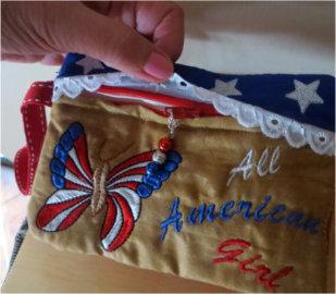 ITH Patriotic Wristlet Purse